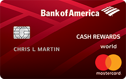 Bank of America<sup>®</sup> Cash Rewards credit card for Students