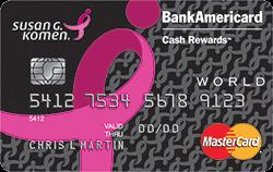 Image result for Susan G. Komen Credit Card