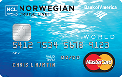 Bank of America Norwegian Cruise Line® World Mastercard® Credit Card Open yourself up to world of opportunity with the Norwegian Cruise Line® World ...