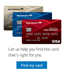 Let us help you find the card that's right for you.