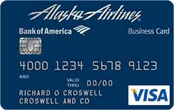 alaska airlines visa business credit card from bank of america - Bank Of America Business Card