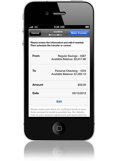bank of america mobile app iphone